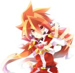 1boy belt belt_buckle buckle clenched_hand fingerless_gloves gloves grin headset looking_at_viewer orange_hair outstretched_hand pants red_eyes red_pants red_shirt rento_(rukeai) saikyou_ginga_ultimate_zero_~battle_spirits~ shirt simple_background smile solo spiky_hair white_background white_gloves zero_the_burning