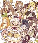 6+girls :d :o ;q ^_^ ahoge animal_ears animal_hat bangs bare_shoulders bear_ears bear_hat bendy_straw black_bow black_capelet black_hat blonde_hair blue_eyes blush bow brown_eyes brown_gloves brown_hair brown_skirt brown_vest cake capelet cat_ears cat_hat child closed_eyes closed_mouth commentary_request cup detached_sleeves dress drink drinking_glass drinking_straw eyebrows_visible_through_hair facing_viewer finger_to_mouth flower food food_themed_clothes food_themed_hair_ornament fur-trimmed_gloves fur_trim gloves green_eyes grey_eyes hair_between_eyes hair_bow hair_ornament hands_on_another's_head hat hat_bow heterochromia highres holding holding_sack holding_tray index_finger_raised leaf_hair_ornament long_hair long_sleeves looking_at_viewer looking_to_the_side maid_headdress mini_hat multiple_girls one_eye_closed open_mouth orange_dress orange_eyes orange_hair original pleated_skirt puffy_short_sleeves puffy_sleeves ribbon sack sakura_oriko shirt short_sleeves silver_hair simple_background skirt sleeveless sleeveless_dress sleeves_past_fingers sleeves_past_wrists smile strawberry_hair_ornament tongue tongue_out top_hat tray very_long_hair vest white_background white_flower white_hat white_ribbon white_shirt wide_sleeves x_hair_ornament