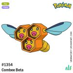 bee bug character_name combee creature full_body gen_4_pokemon insect insect_wings logo no_humans number pacifier pokemon pokemon_(creature) pokemon_dppt_beta signature solo transparent_background urbinator17 watermark web_address wings
