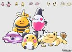 :3 baby_pokemon ballerina_(pokemon) beta_pokemon betobaby blush_stickers cat closed_eyes closed_mouth coin commentary creature deviantart_username elebaby english_commentary gen_2_pokemon gooompy hand_on_hip happy koonya looking_at_viewer lying mime_jr. mime_jr._(beta) no_humans on_stomach pichu pokemon pokemon_(creature) pokemon_gsc_beta signature sitting walking white_cat