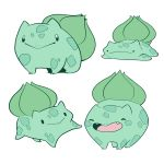 black_eyes bulbasaur creature gen_1_pokemon lying mary_cagle no_humans on_stomach pokemon pokemon_(creature) simple_background white_background