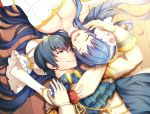 1boy 1girl bare_shoulders blue_eyes blue_hair blush boots bouquet bridal_veil bride couple dress elbow_gloves fire_emblem fire_emblem:_monshou_no_nazo fire_emblem_heroes flower formal gloves groom jewelry long_hair marth necklace open_mouth pegasus_knight sheeda short_hair smile suit veil wedding wedding_dress white_dress white_gloves work_in_progress