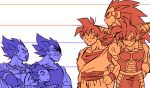 6+boys annoyed arm_up armor bardock beard black_eyes blue brothers clenched_hand cowboy_shot crossed_arms dougi dragon_ball dragonball_z facial_hair father_and_son gloves hand_on_hip happy height_difference king_vegeta long_hair looking_at_another looking_away male_focus monochrome multiple_boys orange_(color) raditz scouter serious shaded_face siblings simple_background smile son_gokuu spiky_hair spr sweatdrop tail tarble teeth upper_body vegeta very_long_hair white white_background wristband
