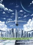 absurdres city clouds cloudy_sky day highres no_humans onita original outdoors scenery sky tree