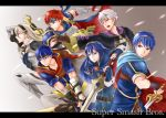 armor blue_armor blue_eyes blue_hair blush cape falchion_(fire_emblem) female_my_unit_(fire_emblem_if) fingerless_gloves fire_emblem fire_emblem:_akatsuki_no_megami fire_emblem:_fuuin_no_tsurugi fire_emblem:_kakusei fire_emblem:_monshou_no_nazo fire_emblem:_souen_no_kiseki fire_emblem_if gloves headband ike long_hair lucina male_my_unit_(fire_emblem:_kakusei) mamkute marth multiple_boys my_unit_(fire_emblem:_kakusei) my_unit_(fire_emblem_if) nuts0415 open_mouth pointy_ears ragnell red_eyes roy_(fire_emblem) short_hair smile super_smash_bros. sword tiara weapon white_hair