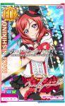 blush dress gloves hat love_live!_school_idol_festival nishikino_maki redhead short_hair skirt smile violet_eyes