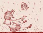 1girl boko_(girls_und_panzer) comic dated floating girls_und_panzer monochrome nishizumi_miho ooarai_school_uniform red rosmino short_hair stuffed_animal stuffed_toy teddy_bear tegaki tegaki_draw_and_tweet twitter_username