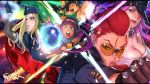 asymmetrical_hair bangs black_hair blonde_hair blunt_bangs bob_cut braid breasts crimson_viper crystal_ball dark_skin fur_hat fur_trim gloves green_eyes hat highres kolin laura_matsuda lips long_hair mana30row menat open_mouth peaked_cap poison_(final_fight) pompadour purple_hair redhead rose_(street_fighter) short_hair street_fighter street_fighter_v sunglasses tank_top ushanka worried