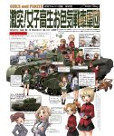 6+girls akiyama_yukari alisa_(girls_und_panzer) assam bicycle_helmet bottle bra churchill_(tank) cup darjeeling gas_mask girls_und_panzer ground_vehicle helmet jagdpanzer_38(t) kadotani_anzu katahira_masashi kawashima_momo kay_(girls_und_panzer) koyama_yuzu mark_i_tank military military_vehicle motor_vehicle multiple_girls object_on_head ooarai_school_uniform orange_pekoe panties panties_on_head saunders_school_uniform st._gloriana's_military_uniform tank teacup underwear white_background