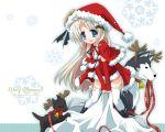 christmas hiduki_yayoi hizuki_yayoi little_busters little_busters! noumi_kudryavka santa santa_costume thighhighs