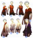 highres japanese_clothes persona persona_3 sanada_akihiko scan scarf soejima_shigenori