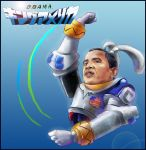 american_flag barack_obama dancing he heriki_(trkj) highres overman_king_gainer parody politician the_monkey usa what