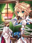 1boy armor book chung_seiker elsword eyebrows_visible_through_hair long_hair rudia tactical_trooper_(elsword) tagme thinking