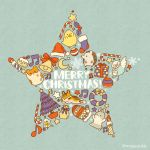 aqua_background beamed_eighth_notes bell bird candle christmas christmas_tree crescent eighth_note english fox gift hamster hat hedgehog merry_christmas mittens mojacookie musical_note no_humans original rabbit santa_hat snowflakes star twitter_username