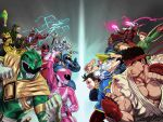 armor green_ranger jeffrey_cruz lord_zedd multiple_boys multiple_girls official_art power_rangers ryuu_(street_fighter) street_fighter timeforce_red_ranger tommy_oliver udon witch_bandora
