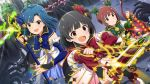 3girls dress highres idolmaster idolmaster_million_live! idolmaster_million_live!_theater_days magical_girl matsuda_arisa multiple_girls nakatani_iku nanao_yuriko smile twintails wespon