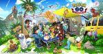 anniversary blanche_(pokemon) candela_(pokemon) female_protagonist_(pokemon_go) kozaki_yuusuke male_protagonist_(pokemon_go) official_art pokemon pokemon_(creature) pokemon_go spark_(pokemon)