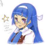 blunt_bangs glasses hair_tubes kannagi nagi oekaki star stars