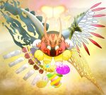 1boy angel_wings bug butterfly butterfly_wings commentary_request crown fastestkirby fusion galactic_nova heart horns insect kirby's_return_to_dream_land kirby:_planet_robobot kirby:_star_allies kirby:_triple_deluxe kirby_(series) magolor_soul master_crown morpho_knight pocket_watch queen_sectonia shoulder_pads spoilers star_dream void_termina watch white_eyes wings