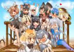 >:( >:d 6+girls ^_^ african_elephant_(kemono_friends) animal_ears antlers aqua_hair arms_up ascot axis_deer_(kemono_friends) bangs bare_arms bare_shoulders bikini_top bird_wings black_hair blonde_hair blue_hair blue_shirt blush bow bowtie braid brown_eyes brown_hair claw_pose clenched_hand closed_eyes closed_eyes closed_mouth collared_shirt commentary_request covering_mouth day deer_ears detached_sleeves elbow_gloves elephant_ears expressive_clothes extra_ears eyebrows_visible_through_hair fang finger_to_another's_mouth fingerless_gloves fist_pump food foreshortening fossa_(kemono_friends) fossa_ears fossa_tail frilled_lizard_(kemono_friends) fur_collar gloves glowing grey_hair hair_between_eyes hakumaiya hand_to_own_mouth hand_up head_wings heart highres holding holding_food hood hood_up jaguar_(kemono_friends) jaguar_ears jaguar_print japari_bun kemono_friends king_cobra_(kemono_friends) kneeling long_hair long_sleeves looking_afar looking_at_another malayan_tapir_(kemono_friends) multicolored_hair multiple_girls necktie nose_blush ocelot_(kemono_friends) ocelot_ears ocelot_print okapi_(kemono_friends) okapi_ears open_mouth orange_eyes otter_ears outdoors pantyhose pantyhose_under_shorts peafowl_(kemono_friends) pink_hair platinum_blonde print_gloves print_neckwear red_eyes scarf shiny shiny_hair shirt short_hair short_over_long_sleeves short_sleeves shorts sidelocks single_braid sitting skirt sleeveless sleeveless_shirt small-clawed_otter_(kemono_friends) smile southern_tamandua_(kemono_friends) standing swimsuit tail tamandua_ears tapir_ears tasmanian_devil_(kemono_friends) tasmanian_devil_ears tearing_up thigh-highs turn_pale twintails two-tone_hair v-shaped_eyebrows water watercraft white_hair white_neckwear white_shirt wings yellow_eyes yuri |d