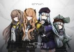 404_(girls_frontline) 4girls absurdres arm_across_waist armband bangs belt beret black_gloves black_jacket black_legwear blunt_bangs blush breasts brown_eyes brown_hair buckle expressionless eyebrows_visible_through_hair facial_mark fingerless_gloves g11_(girls_frontline) girls_frontline gloves green_eyes hair_between_eyes hair_ornament hairclip half-closed_eyes hand_on_hip hat highres hk416_(girls_frontline) hood hood_down hooded_jacket huge_filesize jacket long_hair long_sleeves looking_at_viewer medium_breasts midriff_peek multiple_girls navel off_shoulder one_side_up open_clothes open_jacket pantyhose plaid plaid_skirt pleated_skirt scar scar_across_eye scarf scarf_on_head shirt shorts shoulder_cutout siblings silver_hair sisters skirt smile taru_kira teardrop thigh-highs twins twintails ump45_(girls_frontline) ump9_(girls_frontline) very_long_hair yellow_eyes