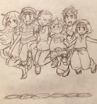 3boys 3girls kaki_(pokemon) lillie_(pokemon) mamane_(pokemon) mao_(pokemon) multiple_boys multiple_girls pokemon pokemon_(anime) pokemon_sm_(anime) satoshi_(pokemon) shintama suiren_(pokemon)