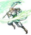 1boy armor axe battle_axe blonde_hair capelet fire_emblem fire_emblem:_kakusei fire_emblem_heroes full_body green_eyes haru_(toyst) highres holding holding_weapon long_hair long_sleeves looking_away official_art riviera_(fire_emblem) solo transparent_background weapon