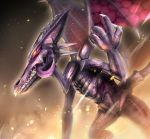 claws dragon gonzarez metroid purple_skin ridley tongue tongue_out wings yellow_wings