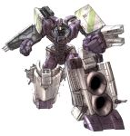 angry blitz-wing cannon clenched_hands decepticon hook mecha red_eyes robot science_fiction simple_background solo tidal_wave_(transformers) transformers transformers_armada turret