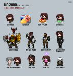 6+girls black_panther_(marvel) black_panther_(marvel)_(cosplay) copyright_request cosplay food girls_frontline hair_ribbon jojo_no_kimyou_na_bouken league_of_legends multiple_girls orkz pale_skin pixel_art plate pun ribbon sans skeleton stardust_crusaders the_world undertale waffle ward warhammer_40k wario wario_(cosplay) wario_land wasabi yuyukong