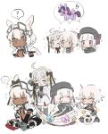 ... 4girls :d ? ahoge animal_ears bandage bandaged_arm bandages bangs black_bow black_dress black_hat blue_eyes bow braid caenis_(fate) capelet commentary dark_skin dress facial_scar fate/apocrypha fate/grand_order fate_(series) fur-trimmed_capelet fur_trim gothic_lolita green_eyes hair_intakes hairband hat headgear headpiece jack_the_ripper_(fate/apocrypha) jacket jeanne_d'arc_(fate)_(all) jeanne_d'arc_alter_santa_lily lilirenzu lolita_fashion long_hair multiple_girls my_little_pony nursery_rhyme_(fate/extra) open_mouth pixiv_fate/grand_order_contest_2 ponytail ponytail_holder red_eyes scar scar_on_cheek silver_hair smile sparkle spoken_ellipsis spoken_question_mark striped striped_bow tattoo twilight_sparkle twin_braids white_background white_hair white_jacket yellow_eyes