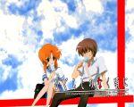higurashi_no_naku_koro_ni maebara_keiichi ryuuguu_rena sky tagme