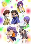 child clannad fujibayashi_kyou fujibayashi_ryou furukawa_nagisa ibuki_fuuko ichinose_kotomi sagara_misae sakagami_tomoyo sleeping star stars wara_p