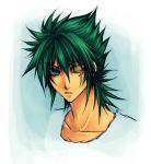 green_hair kraken_isaac lowres male neptune one-eyed one_eye poseidon saint_seiya scar solo
