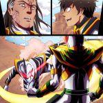 2boys battle fighting long_hair lord_drakkon power_rangers short_hair white_dinothunder_ranger