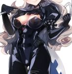 1girl bdsm blush bondage boots bound breasts collar corset dominatrix elbow_gloves female_my_unit_(fire_emblem_if) fire_emblem fire_emblem_if gloves hairband large_breasts latex latex_gloves leather long_hair looking_at_viewer mamkute my_unit_(fire_emblem_if) negiwo pointy_ears red_eyes simple_background smile solo thigh-highs thigh_boots
