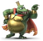 1boy 3d animal armband cape claws crocodilian crown donkey_kong_(series) green_skin highres king_k._rool nintendo no_humans official_art rareware super_smash_bros. super_smash_bros._ultimate