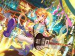 bang_dream! blush dress guitar kitagawa_hagumi orange_eyes orange_hair short_hair smile tanabata