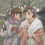 blush highres japanese_clothes kimono md5_mismatch multiple_girls original saimon