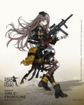1girl ammunition_pouch ankle_boots armband bag baggy_clothes bangs black_footwear black_gloves black_jacket black_legwear black_nails blush boots buttons character_name closed_mouth collared_shirt copyright_name crossed_bangs damaged digi-mind_update_(girls_frontline) exoskeleton floating_hair from_side full_body girls_frontline gloves gun h&k_ump h&k_ump45 hair_ornament hand_up headgear heckler_&_koch highres holding holding_gun holding_weapon holster hood hood_down hooded_jacket jacket leg_strap leg_up leg_wrap logo long_hair looking_at_viewer looking_away looking_back mechanical_arm nail_polish necktie nose_blush official_art one_eye_closed one_side_up open_clothes open_jacket pantyhose pleated_skirt pouch ribbon scar scar_across_eye shirt sidelocks silver_hair single_glove single_knee_pad single_pantyhose skirt smile solo standing strap submachine_gun suppressor thigh-highs thigh_strap torn_bag torn_clothes torn_jacket torn_pantyhose trigger_discipline ump45_(girls_frontline) untucked_shirt vertical_foregrip very_long_hair weapon white_shirt wristband yellow_eyes yellow_neckwear zagala
