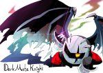 damaged dark_meta_knight gloves highres kirby_(series) mask wings yellow_eyes
