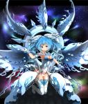 1girl :d aqua_eyes aqua_hair aqua_legwear armpits bangs bare_shoulders blush boots breasts cleavage comiket_90 commentary_request covered_navel crossed_bangs deep-eyes_white_dragon dragon_girl dragon_wings duel_monster full_body garoudo_(kadouhan'i) gloves hand_up headgear high_heel_boots high_heels legs_up leotard letterboxed long_hair looking_at_viewer medium_breasts open_mouth outside_border personification sideboob smile solo thigh-highs thigh_boots very_long_hair white_footwear white_gloves white_leotard white_wings wings yu-gi-oh! yuu-gi-ou yuu-gi-ou_duel_monsters yuu-gi-ou_the_dark_side_of_dimensions