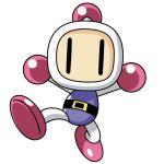 1boy bomberman bomberman_online hudson_soft konami mizuno_shouji no_humans no_mouth official_art robot simple_background solo white_bomberman |_|