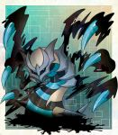 alternate_color commentary_request creatures_(company) game_freak gen_4_pokemon giratina highres legendary_pokemon nintendo no_humans pokemon pokemon_(creature) pokemon_(game) pokemon_dppt shiny_pokemon wings