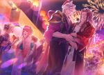 breasts brother_and_sister brothers camilla_(fire_emblem_if) drill_hair elise_(fire_emblem_if) festival fire_emblem fire_emblem_heroes fire_emblem_if hair_over_one_eye highres hinoka_(fire_emblem_if) hug iroha_(akei0710) japanese_clothes kimono leon_(fire_emblem_if) long_hair marks_(fire_emblem_if) mask multiple_girls open_mouth purple_hair red_eyes redhead ryouma_(fire_emblem_if) sakura_(fire_emblem_if) short_hair siblings sisters smile takumi_(fire_emblem_if) twin_drills twintails