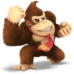 1boy 3d animal ape brown_eyes donkey_kong donkey_kong_(series) gorilla grin looking_at_viewer necktie nintendo no_humans official_art rareware retro_studios solo super_smash_bros. super_smash_bros._ultimate teeth transparent_background