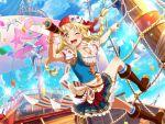 bang_dream! blonde_hair blush braids dress long_hair periscope pirate smile tsurimaki_kokoro yellow_eyes