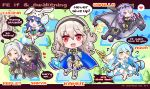 6+girls :q animal_ears aqua_(fire_emblem_if) arm_hug arm_up armor belt black_armor black_dress black_hair black_hairband blue_cape blue_eyes blue_hair book camilla_(fire_emblem_if) cape character_name chibi copyright_name dragon dress easter_egg egg english fake_animal_ears female_my_unit_(fire_emblem:_kakusei) female_my_unit_(fire_emblem_if) fire_emblem fire_emblem:_kakusei fire_emblem_heroes fire_emblem_if gloves hair_over_one_eye hairband heart holding holding_book holding_lance lance leotard licking_lips long_hair lucina mountain multiple_girls musical_note my_unit_(fire_emblem:_kakusei) my_unit_(fire_emblem_if) nekomikoalice one_eye_closed open_mouth pointy_ears polearm purple_hair rabbit_ears red_eyes riding robe spoken_heart standing standing_on_one_leg tharja tiara tongue tongue_out tree twintails veil violet_eyes water weapon white_dress white_hair wyvern yellow_eyes