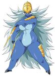 1girl blue_fur breasts creatures_(company) female game_freak gen_5_pokemon large_breasts long_hair nintendo no_humans pokemon pokemon_(creature) pokemon_(game) pokemon_bw samurott white_hair