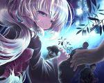 blue_eyes blush child cura festival gothic_delusion japanese_clothes long_hair obi ponytail white_hair